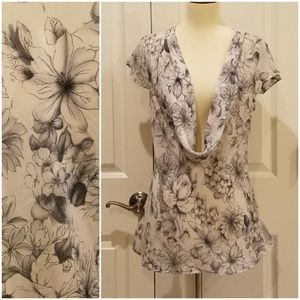 Apt 9 Shadow Floral Blouse **
